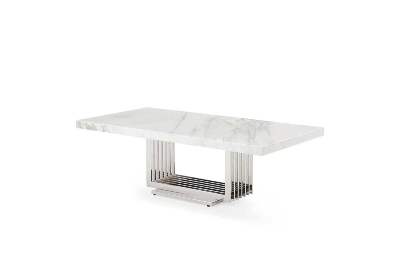 Modern Marble Stainless Steel Coffee Table Vig Modrest Kingsley Contemporary Vgvcct8933 Stl