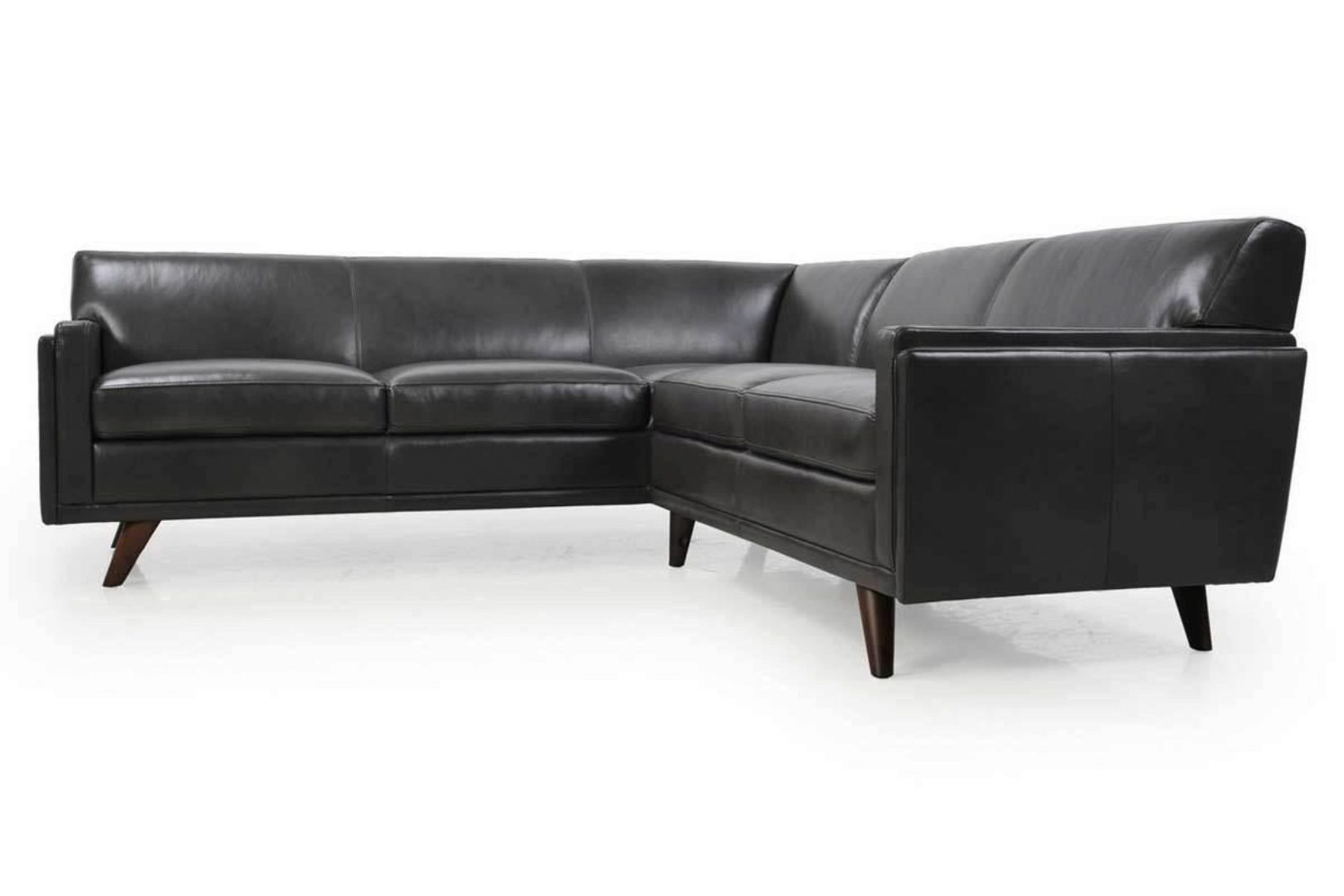 Image of: Moroni Milo 361 Contemporary Charcoal Full Top Grain Leather Sectional Sofa 361scbs1171