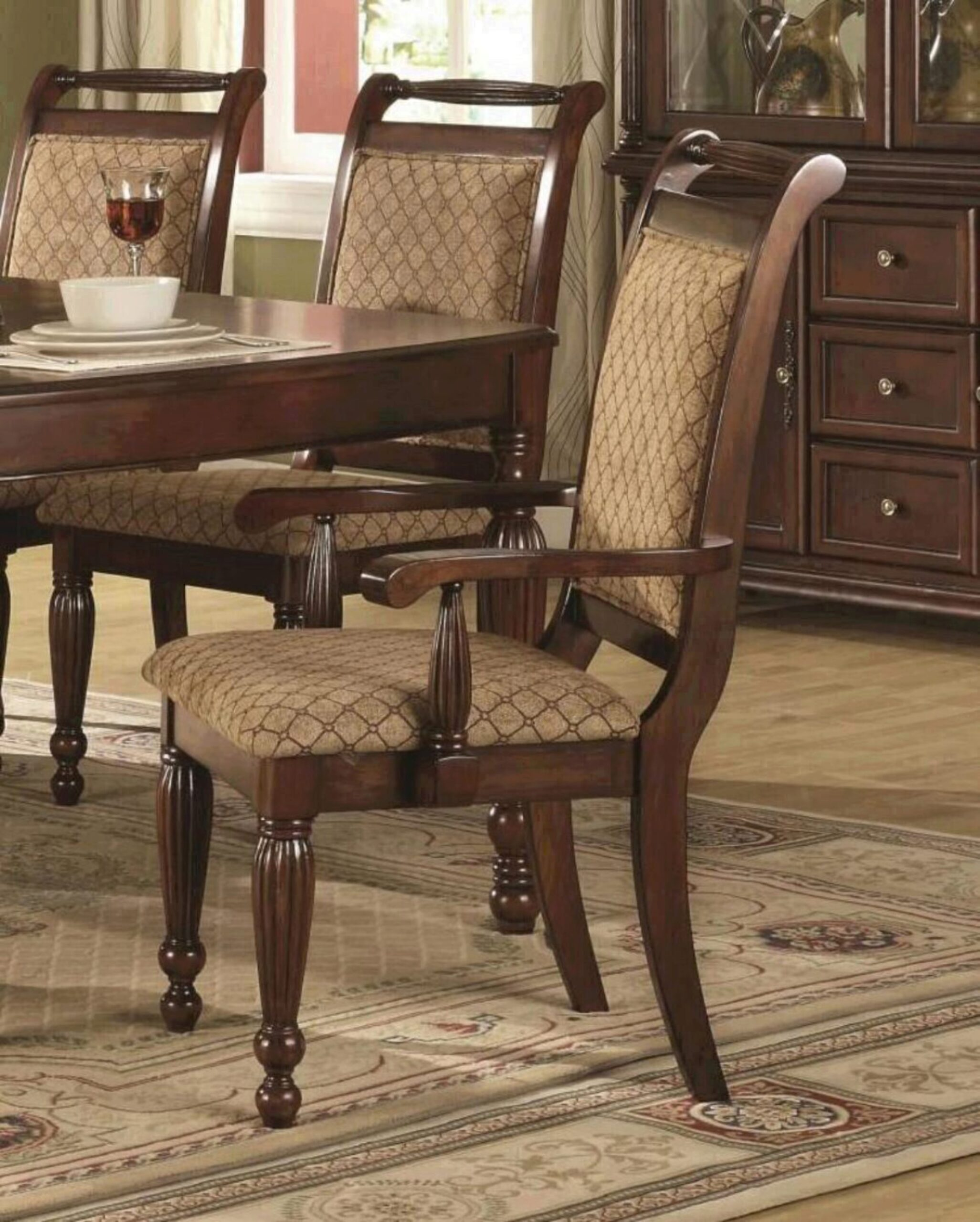 Myco Furniture Wilshire Brown Finish, Wilshire Dining Room Furniture