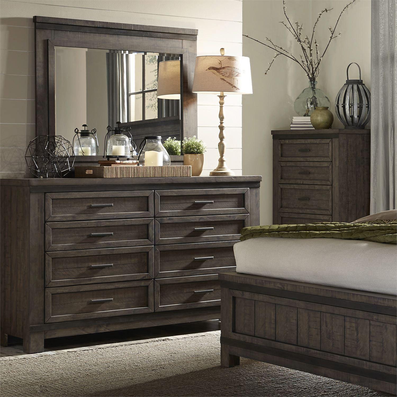 rustic gray wood queen panel bedroom set 4 pcs 759br