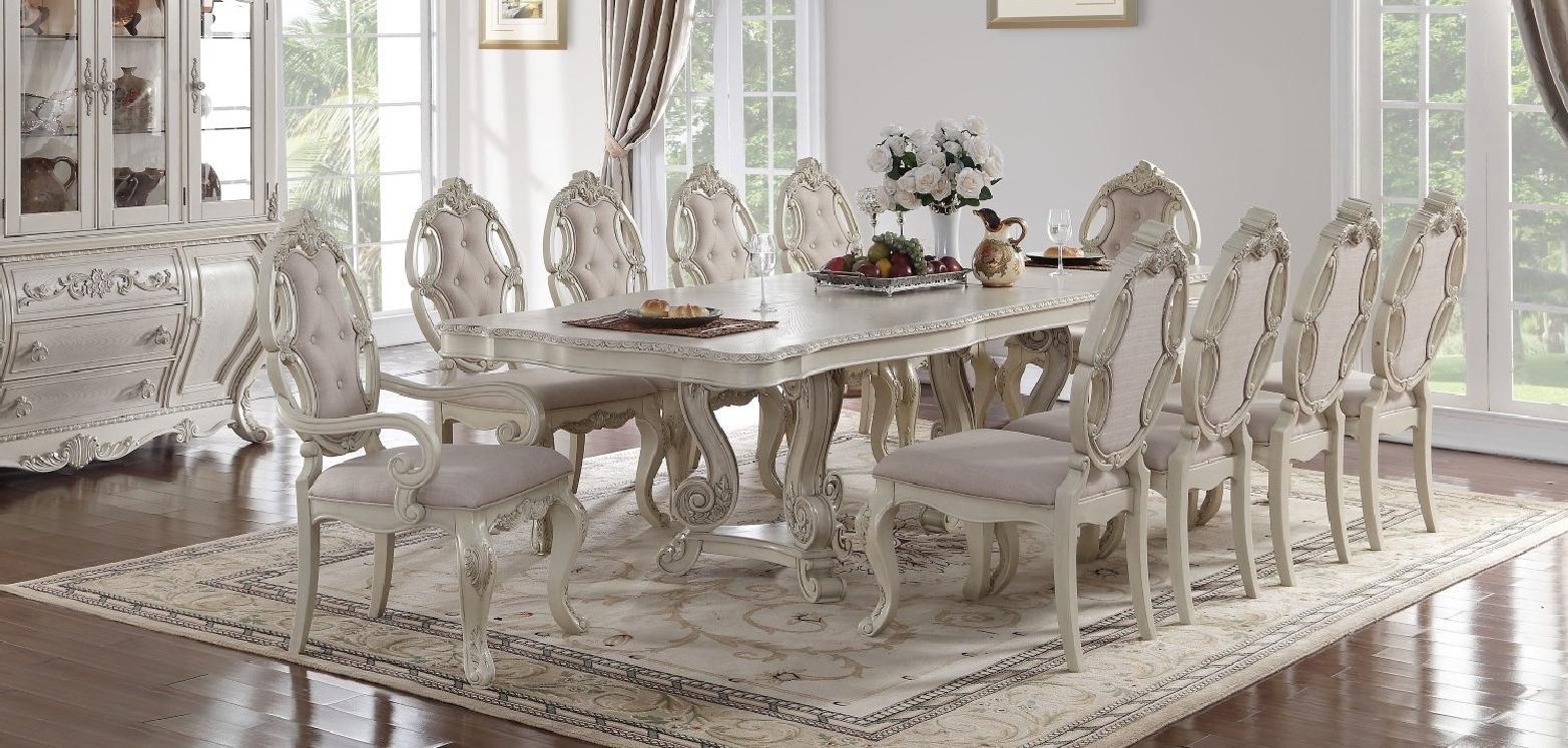 Soflex Classic Riviera Antique White Rectangular Dining ...
