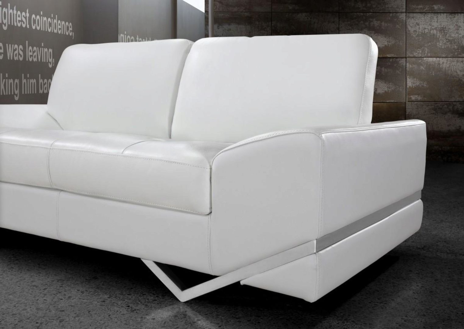 Picture of: Soflex San Francisco Modern White Leather Sofa Living Room Set 3pcs Contemporary Soflex San Francisco Sofa Set 3
