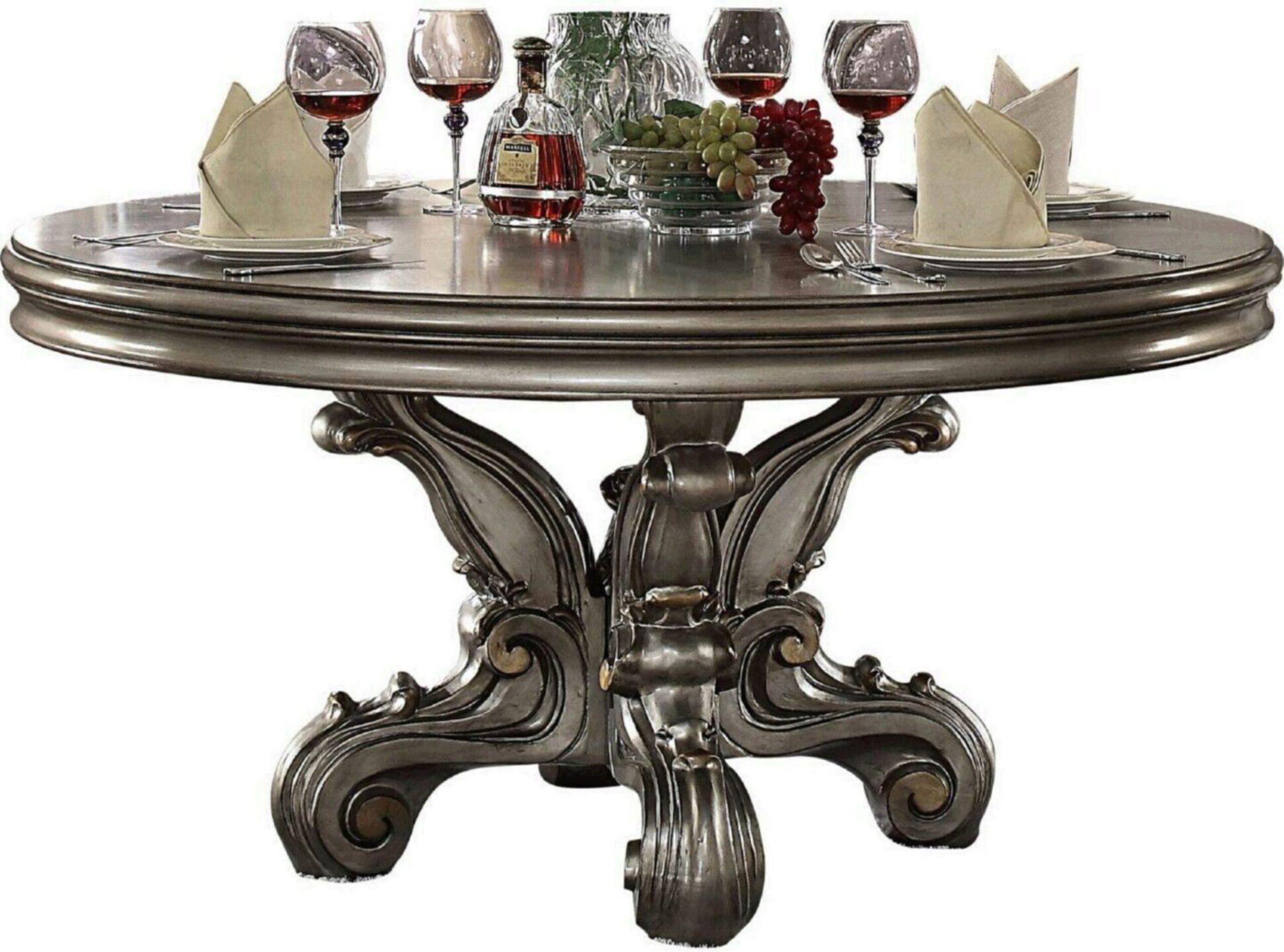 Antique Platinum Carved Wood Welton, Welton Furniture Dining Room