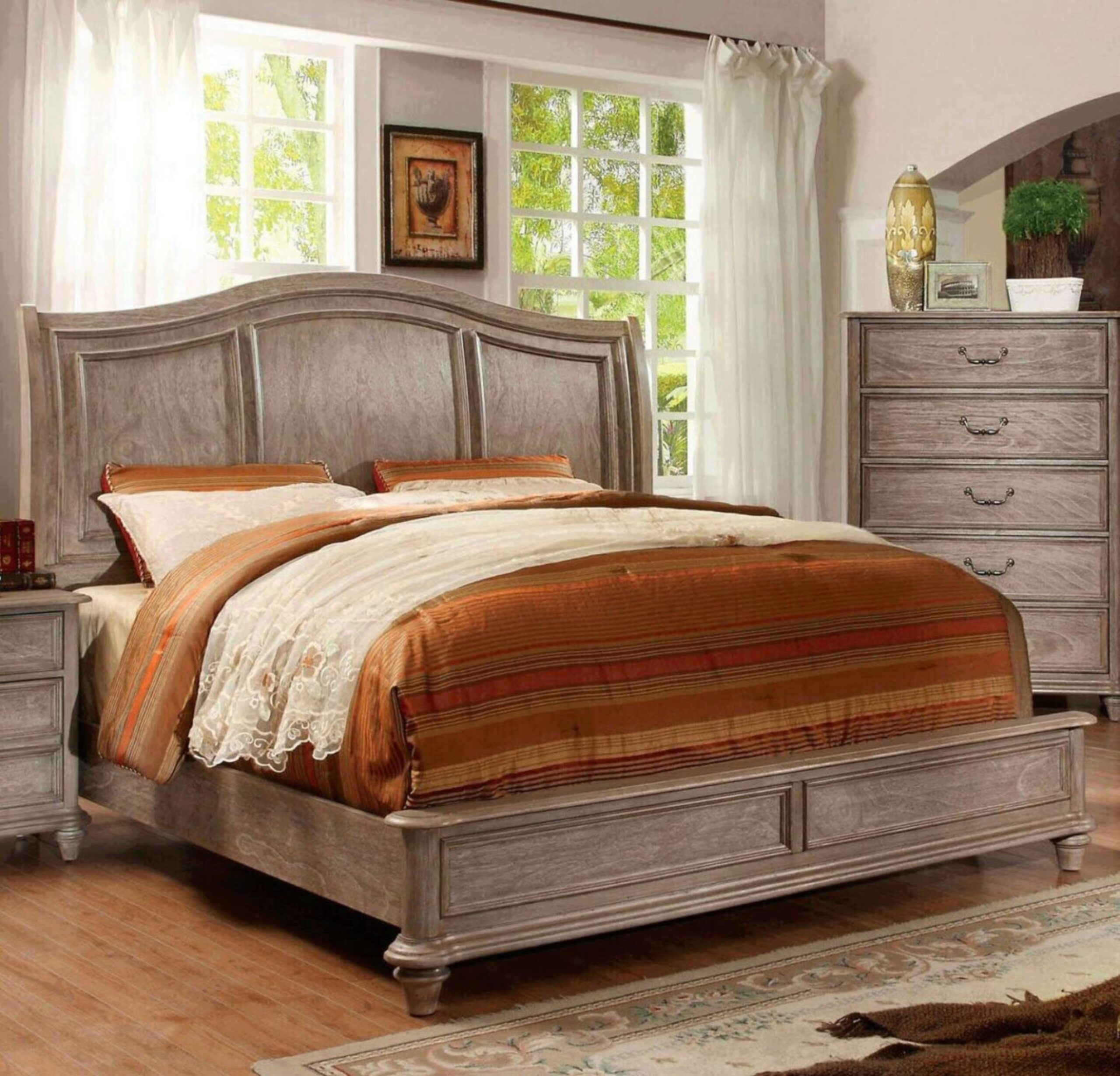 Wood Queen Bedroom Set 5 W Chest Brown Belgrade Ii By Furniture Of America Cm7611q 5pc Chest